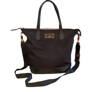 Kate Spade Black Leather Tote Bag